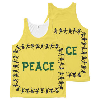 Cute PEACE Design Tank Top
