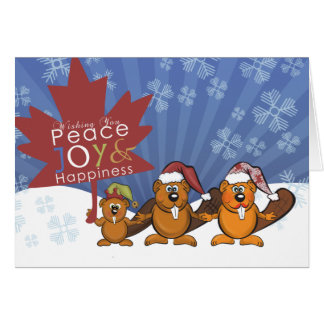 Cute peace,Joy and happiness greeting card