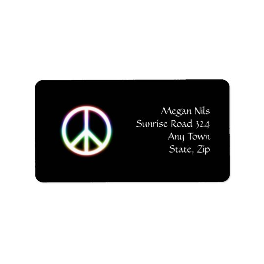 Cute Peace Symbol Address Label