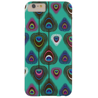 cute peacock feather pattern barely there iPhone 6 plus case