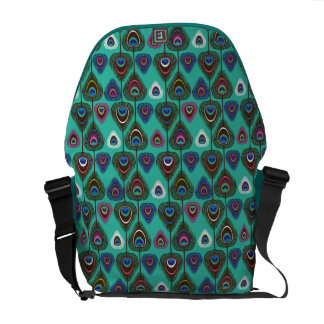 cute peacock feather pattern messenger bag