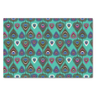 cute peacock feather pattern tissue paper