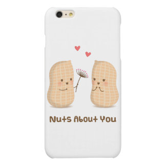 Cute Peanuts Nuts About You Pun Love Humor iPhone 6 Plus Case