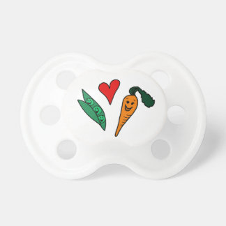 Cute Peas and Carrots Cartoon Pacifier