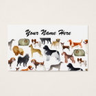 Cute Pedigree Pet Dog Wallpaper Design Business Card