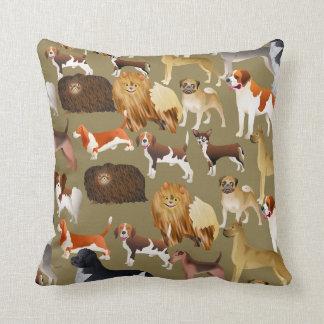 Cute Pedigree Pet Dog Wallpaper Design Cushion