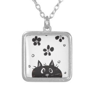 Cute Peek A Boo Cat Necklace