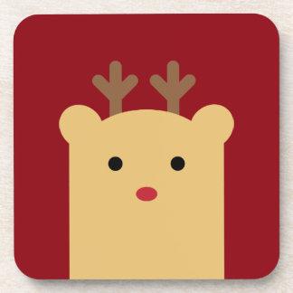 Cute Peekaboo Reindeer Coaster Set