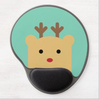 Cute Peekaboo Rudolph Gel Mousepad