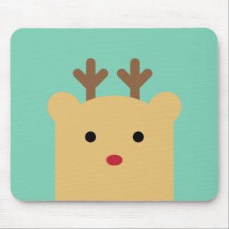 Cute Peekaboo Rudolph Mousepad