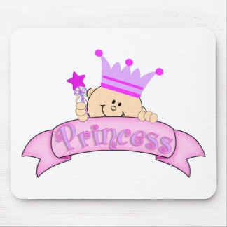 Cute Peeking Baby Princess Mouse Pad
