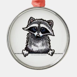 Cute Peeking Raccoon Pendant Ornament