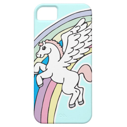 cute pegasus and unicorn cartoon graphic case for the iPhone 5