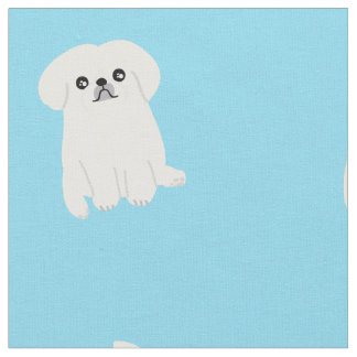 Cute Pekingese Printed Pattern Fabric