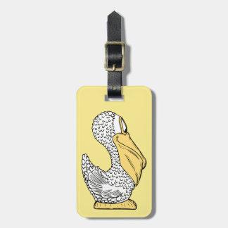 Cute Pelican kids' custom luggage tag