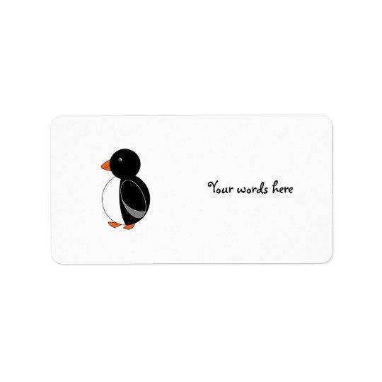 Cute penguin address label