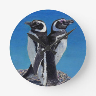 Cute Penguin Art Wall Clock