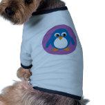 Cute penguin blue dog sweater
