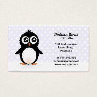 Penguin cartoon business cards business card printing zazzle uk cute penguin cartoon business card colourmoves Image collections