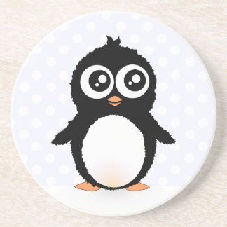 Cute penguin cartoon coaster