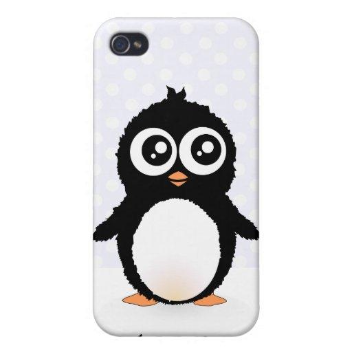 Cute penguin cartoon case for iPhone 4