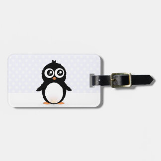 Cute penguin cartoon luggage tag