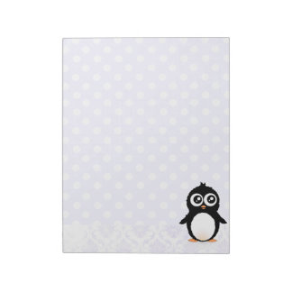 Cute penguin cartoon notepad