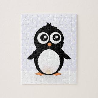 Cute penguin cartoon puzzles