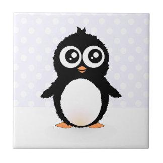 Cute penguin cartoon tile
