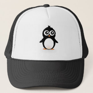 Cute penguin cartoon trucker hat