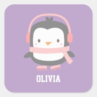 Cute Penguin Christmas Fillers for Girls Square Sticker