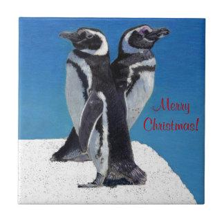 Cute Penguin Christmas Tile