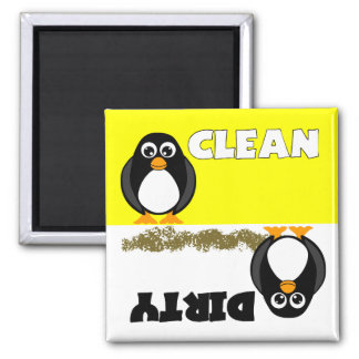 Cute Penguin Clean Dirty Dishwasher Magnet