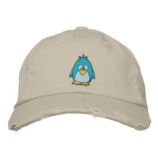 cute penguin embroidered hat