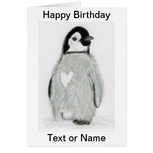 CUTE PENGUIN HEART BIRTHDAY CARD DAUGHTER ETC.