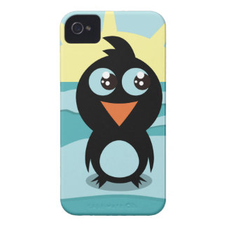 Cute  Penguin iPhone 4 Case-Mate Barely There iPhone 4 Case
