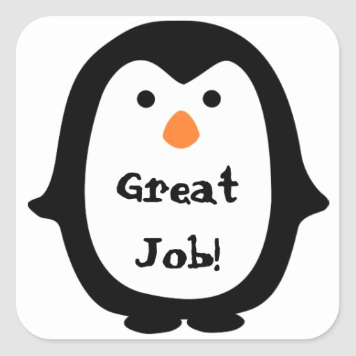 Cute Penguin Message Sticker Stickers