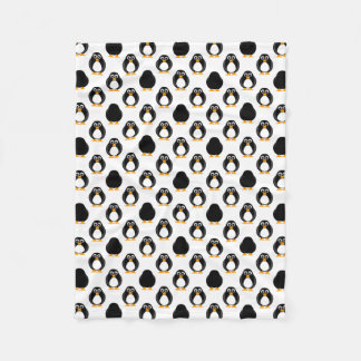Cute Penguin Pattern Fleece Blanket