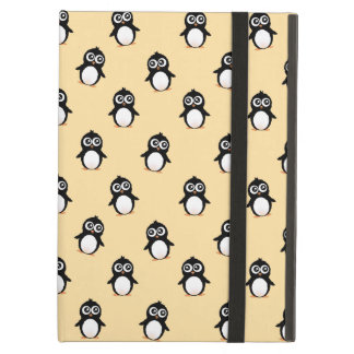 Cute penguin pattern - golden yellow iPad air cover