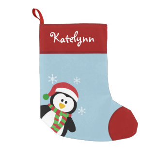 Cute Penguin Personalised Christmas Stocking