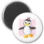 Cute Penguin Pink Fridge Magnet