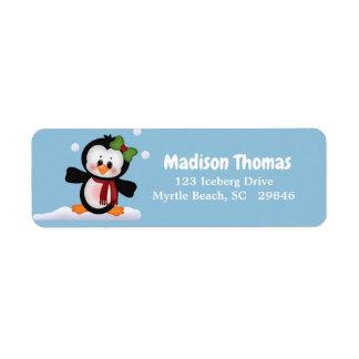 Cute Penguin Return Address Label