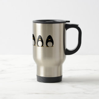 Cute Penguin See Speak Hear No Evil Stainless Steel Travel Mug