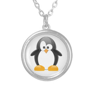 Cute Penguin Silver Plated Necklace