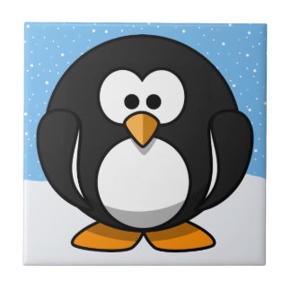 Cute Penguin Small Square Tile