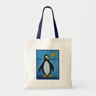 Cute penguin budget tote bag