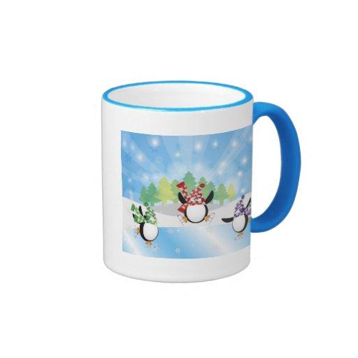 Cute Penguin Trio Figure Skating Mug