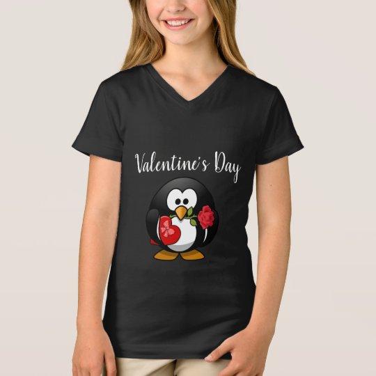 Cute Penguin Valentine's Day Kids Shirt