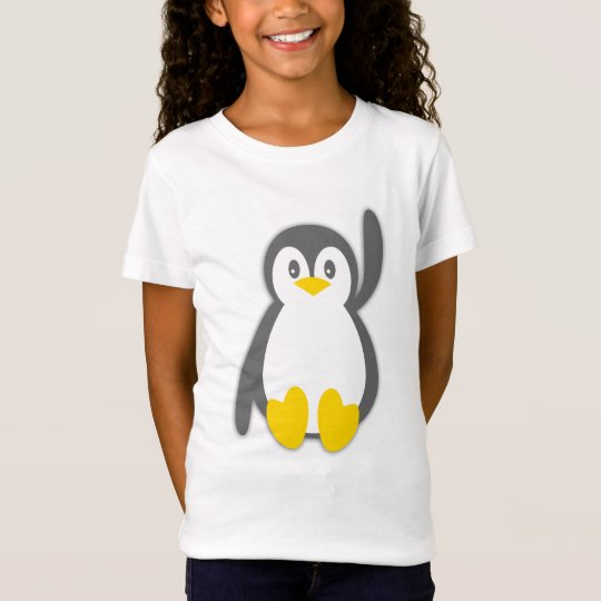 Cute penguin wave girls t-shirt