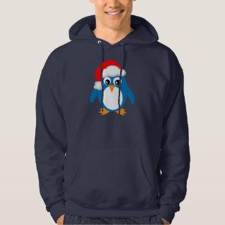 Cute Penguin With Christmas Santa Hat Hoodie